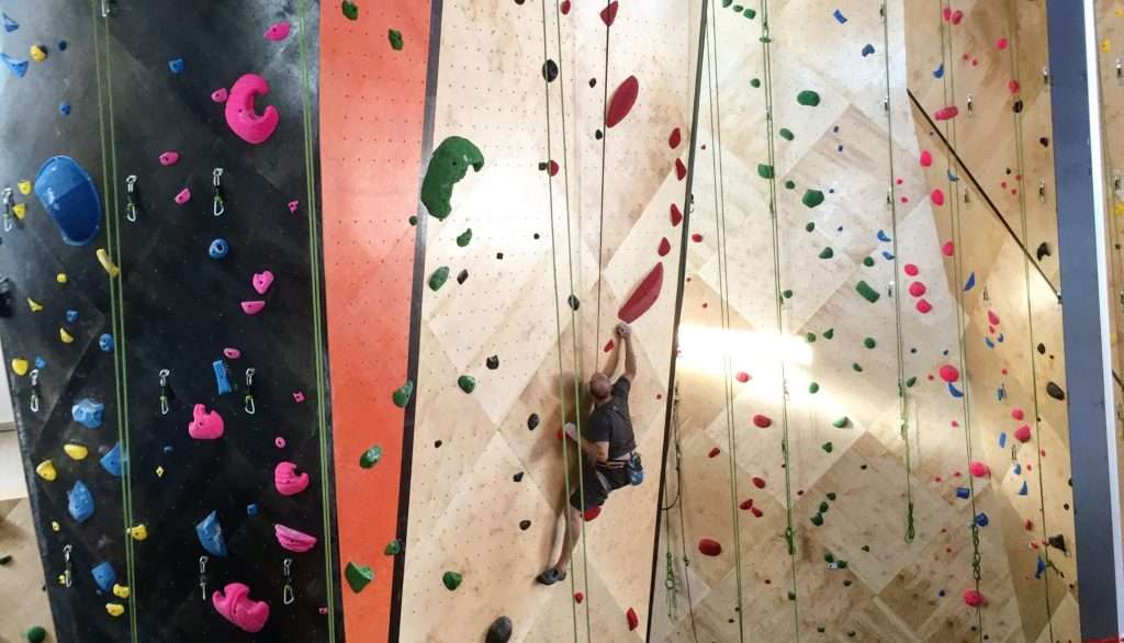 indoor gym climbing