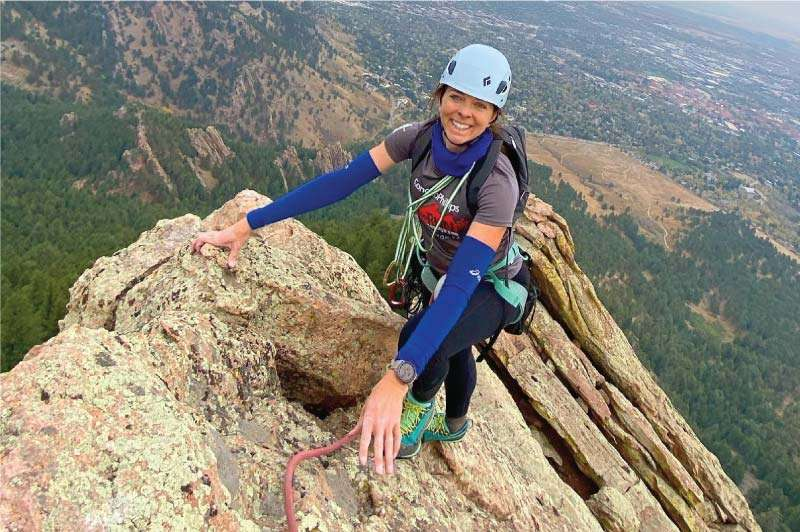 Climber on Summit of First Flatiron