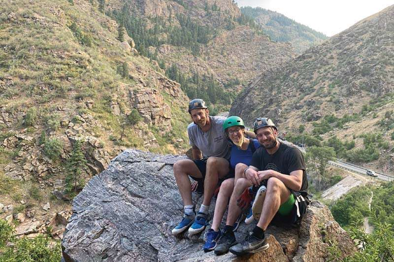 Climbing in Clear Creek Canyon