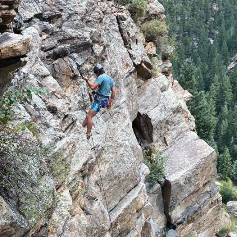 Learning to Lead Climb Denver Colorado