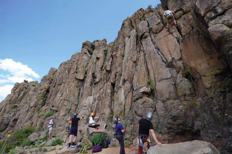 Group of Rock Climbers