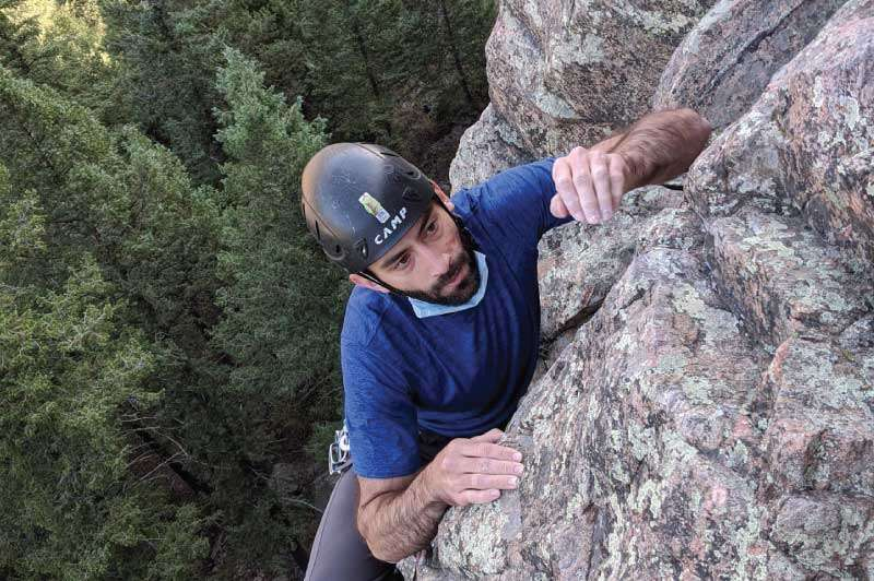 Guided multipitch climb.