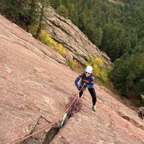 Climbing the first Flatiron With a Guide